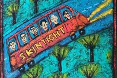 Óleo sobre lienzo del artista lucense Quique Bordell representando a Skintight
